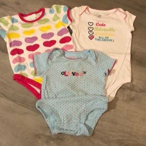 Other - 3 cute diaper shirts!!
